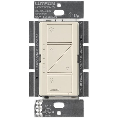 Caseta Wireless Single Pole In-Wall Dimmer, 600/150-Watts - Light Almond