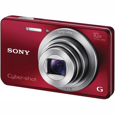 Cyber-shot DSC-W690 16MP 10X Zoom 720p Camera (Red) - OPEN BOX