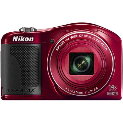 COOLPIX L610 16MP 3` LCD Red Digital Camera - Factory Refurbished