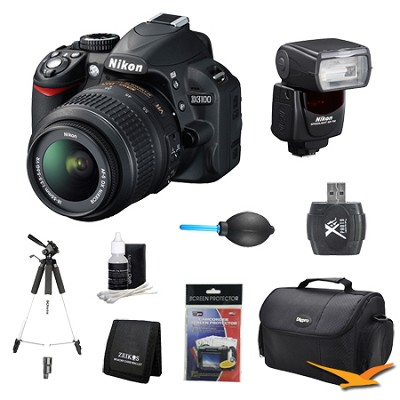 D3100 14MP DX-format Digital SLR w/ 18-55mm and Flash Lens Kit