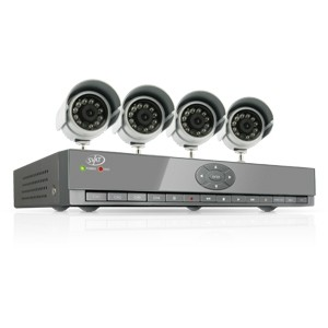 4 Channel Smart Phone Compatible  DVR Security System 4 Cameras - OPEN BOX