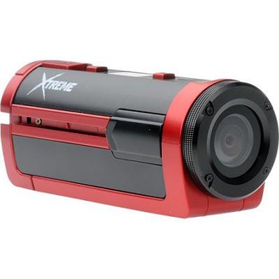 Xtreme Sports Full HD 1080p Waterproof Helmet Camera (Red) - OPEN BOX