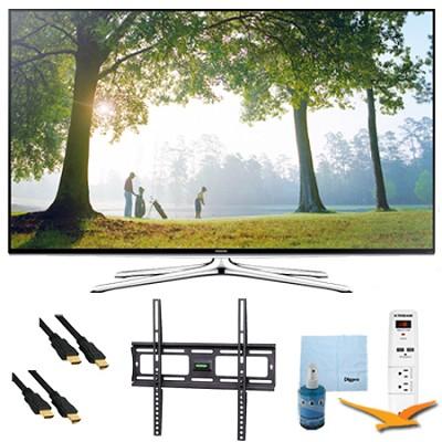 UN48H6350 - 48` Inch Full HD 1080p Smart HDTV 120Hz Plus Mount & Hook-Up Bundle