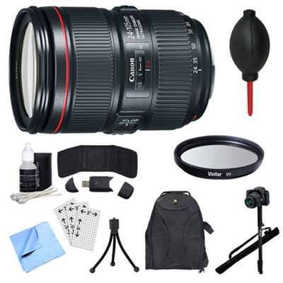 EF 24-105mm f/4L IS II USM Lens, Filter, Monopod, and Accessories Bundle