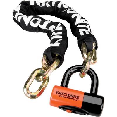 New York Chain 1210 and Evolution Series-4 Orange 14mm Disc Lock