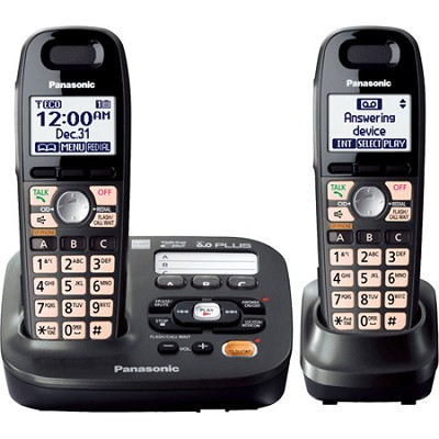 KX-TG6592T Expandable Digital Cordless Answering System with 2 handsets