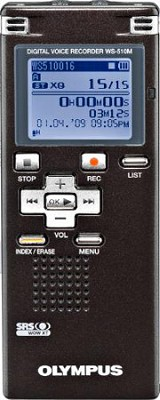 WS-510M 4GB Digital Voice Recorder and WMA/MP3 Music Player - REFURBISHED