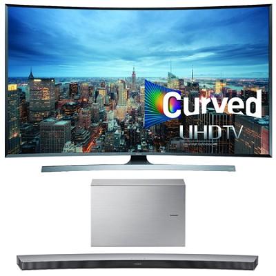 UN78JU7500 - 78-Inch 2160p 3D Curved 4K UHD Smart TV w/ HW-J7501 Soundbar Bundle