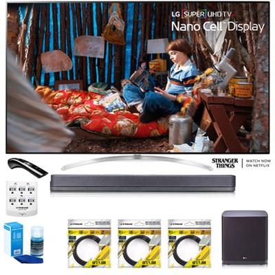 SUPER UHD 65` 4K HDR Smart LED TV 65SJ9500 w/LG SJ9 Hi-Res Sound Bar Bundle