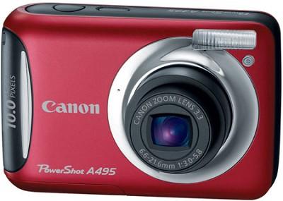 PowerShot A495 10 Mega Pixel with 3.3x Optical Zoom Digital Camera (Red)