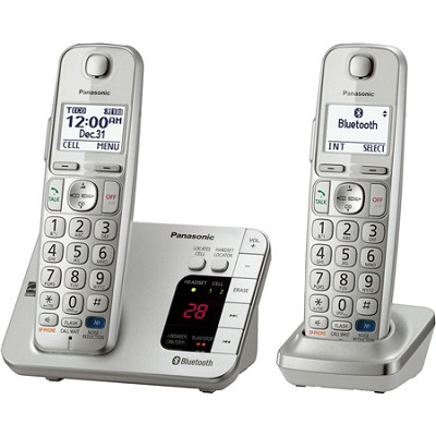 KX-TGE262S Link2Cell Bluetooth Enabled Phone with Answering Machine