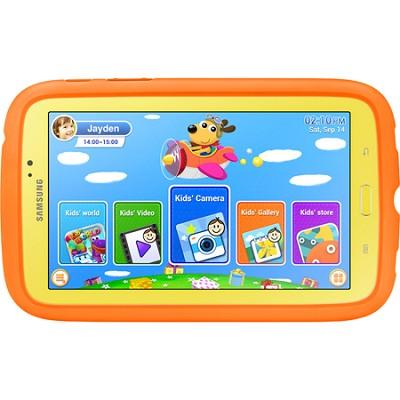 Galaxy Tab 3 - 7.0` Kids Edition (Yellow w/ Orange Bumper Case) - SM-T2105GYYXAR