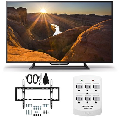 KDL-40R510C - 40-Inch Full HD 1080p Smart LED TV Flat & Tilt Wall Mount Bundle
