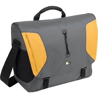 15.4` Lightweight Sport Messenger Bag - Gray and Yellow