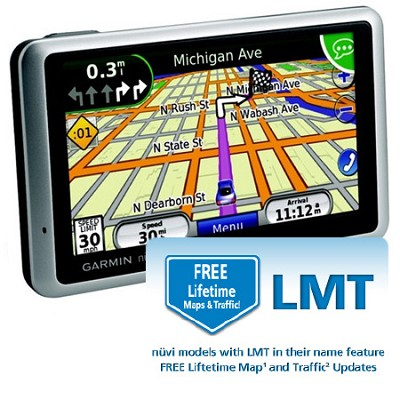 Nuvi 1350LMT 4.3-Inch Portable GPS Navigator with Lifetime Map & Traffic Updates