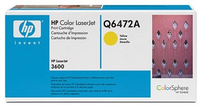 Yellow Print Cartridge for LaserJet 3600 Printers