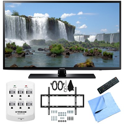 UN50J6200 - 50-Inch Full HD 1080p 120hz LED HDTV Slim Flat Wall Mount Bundle