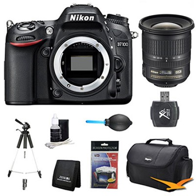 D7100 DX-Format Digital HD-SLR Body 10-24mm Pro Len Bundle