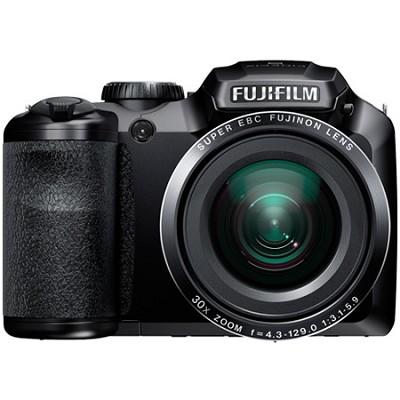 FinePix S6800 16 MP 30x Wide Angle Zoom Digital Camera - Black