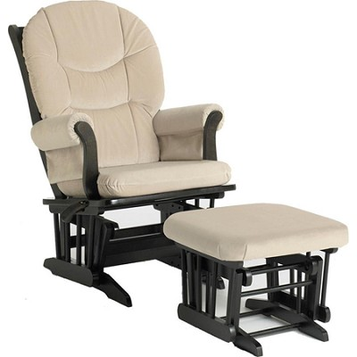 Sleigh Glider Multiposition, Recline and Ottoman Combo (Beige)