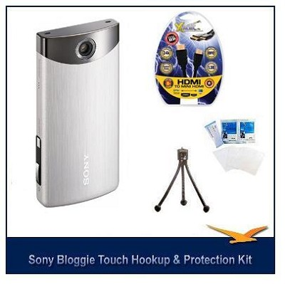 MHS-TS20/S Bloggie Touch 8GB Silver HD Camcorder w/ HDMI, LCD Protectors, Tripod