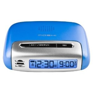 Speak n Set Touch Activated Travel Alarm Clock Blue