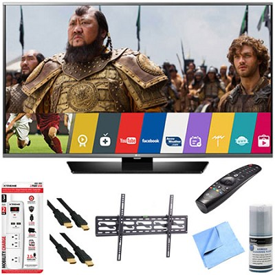 60LF6300 - 60` 120Hz LED Smart HD TV w/ Magic Remote Tilt Mount & Hook-Up Bundle