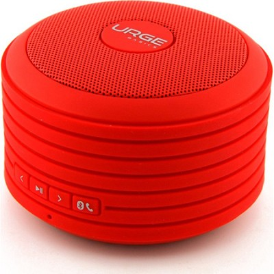 Bluetooth Disc Speaker with Built-In Mic (Red)