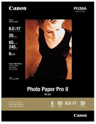 Photo Paper Pro II 8.5` X 11` - 20 Sheets