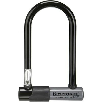 Kryptolok Series 2 Mini Bicycle U-Lock w/ Transit FlexFrame Bracket (3.25` x 7`)