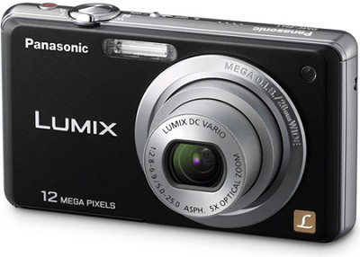 DMC-FH1K LUMIX 12.1 Megapixel Digital Camera (Black) Open Box
