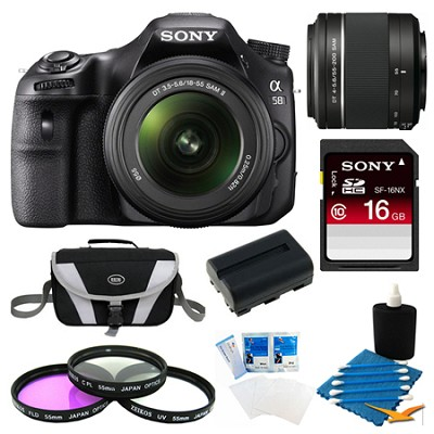 Alpha SLT-A58K Digital SLR Camera 16 GB 55-200mm Lens Bundle