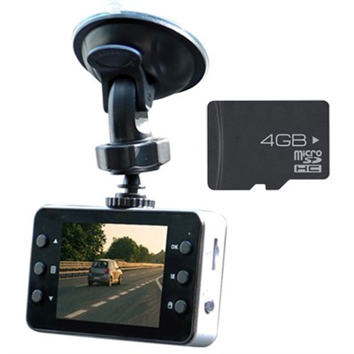 Universal HD Dashboard Camera + Extreme Speed 4GB MicroSD Memory Card Kit