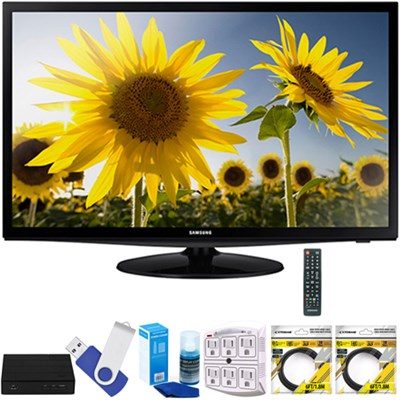 28` Slim LED HD 720p TV Clear Motion Rate 120 with Terk Tuner Bundles