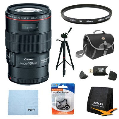 EF 100mm f/2.8L Macro IS USM Macro Lens Exclusive Pro Kit
