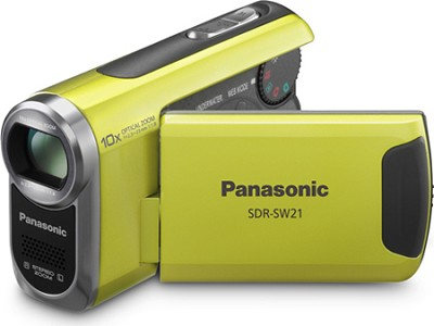 SDR-SW21G TOUGH SD Camcorder with 10X Zoom (Green)