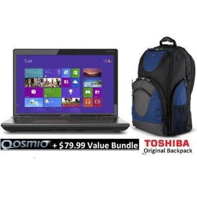 Qosmio 17.3` X75-A7298 Notebook PC - Intel Core i7-4700MQ+ Value Bundle