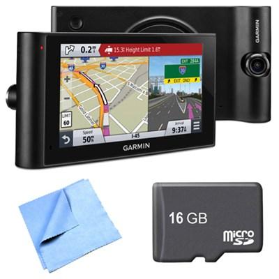 dezlCam LMTHD 6` GPS Truck Navigator w/ Dash Cam 16GB Micro SD Card Bundle
