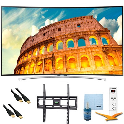 55` H8000 Curved LED 3D Smart HDTV 1080p 240Hz Mount & Hook-Up Bundle UN55H8000