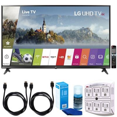 65` Super UHD 4K HDR Smart LED TV (2017 Model) w/ Accessories Bundle