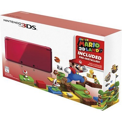 3DS Holiday Bundle - Flame Red with Super Mario 3D Land