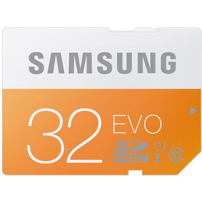 EVO 32GB SDHC Secure Digital Memory Card - Class 10