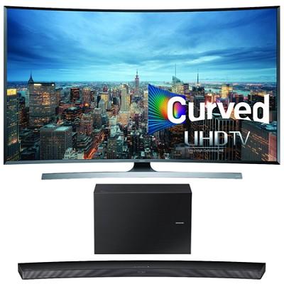 UN55JU7500 - 55-Inch 2160p 3D Curved 4K UHD Smart TV w/ HW-J7500 Soundbar Bundle