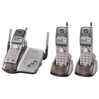 KX-TG5423M 5.8 GHz FHSS GigaRange Digital Cordless Phone with 3-Handsets