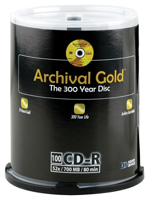 Archival Gold CD-R Retail Cakebox Spindle (100 Discs)