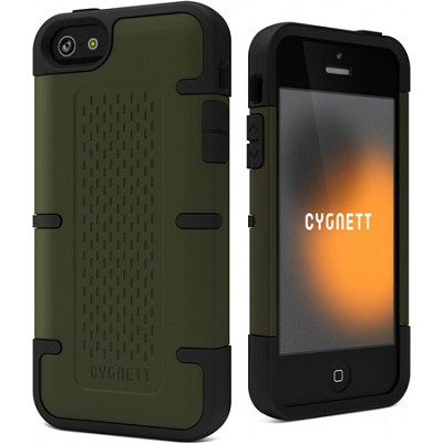 Workmate Olive Green and Black Shock-Absorbing iPhone 5 Case