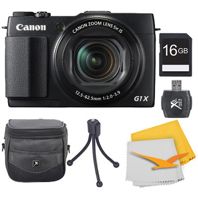 PowerShot G1 X Mark II Digital Camera 16GB Kit