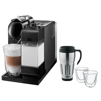 Lattissima Plus Capsule Espresso/Cappuccino Machine w/ Glasses & Travel Mug