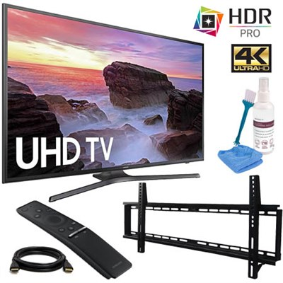 UN65MU6300FXZA 65` 4K HDR Ultra HD Smart LED TV 2017 with Wall Mount Kit