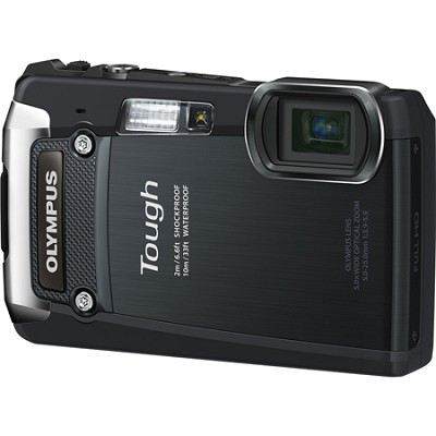 Tough TG-820 iHS 12MP Waterproof Shockproof Freezeproof Digital Camera - Black
